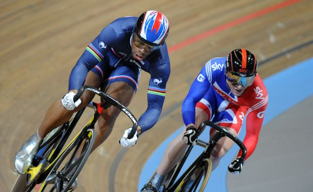 Gregory Bauge Jason Kenny men's sprint 2011 world track championships Apeldoorn.jpg