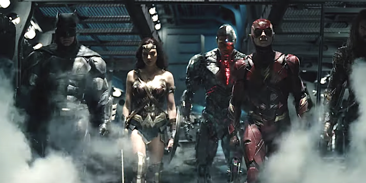 The Justice League team in Snyder Cut