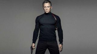 Spectre James Bond sharply dressed with his gun drawn