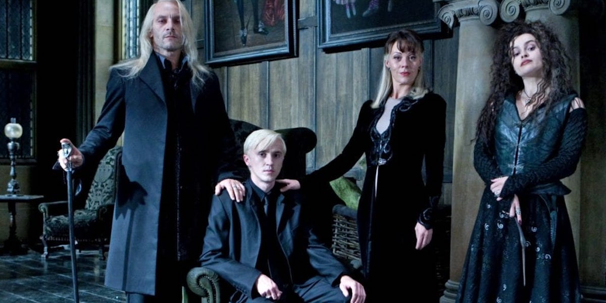 The Death Eaters, Malfoys and Beatrix Lastrange