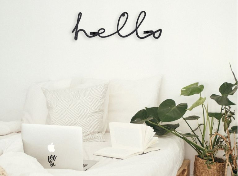 Shein home decor wall decor lettering that says Hello