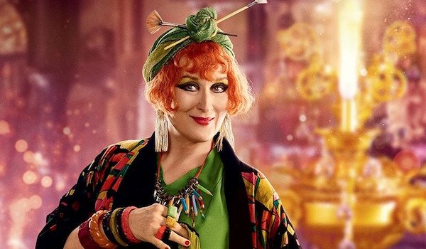 Meryl Streep as Cousin Topsy in Mary Poppins Returns