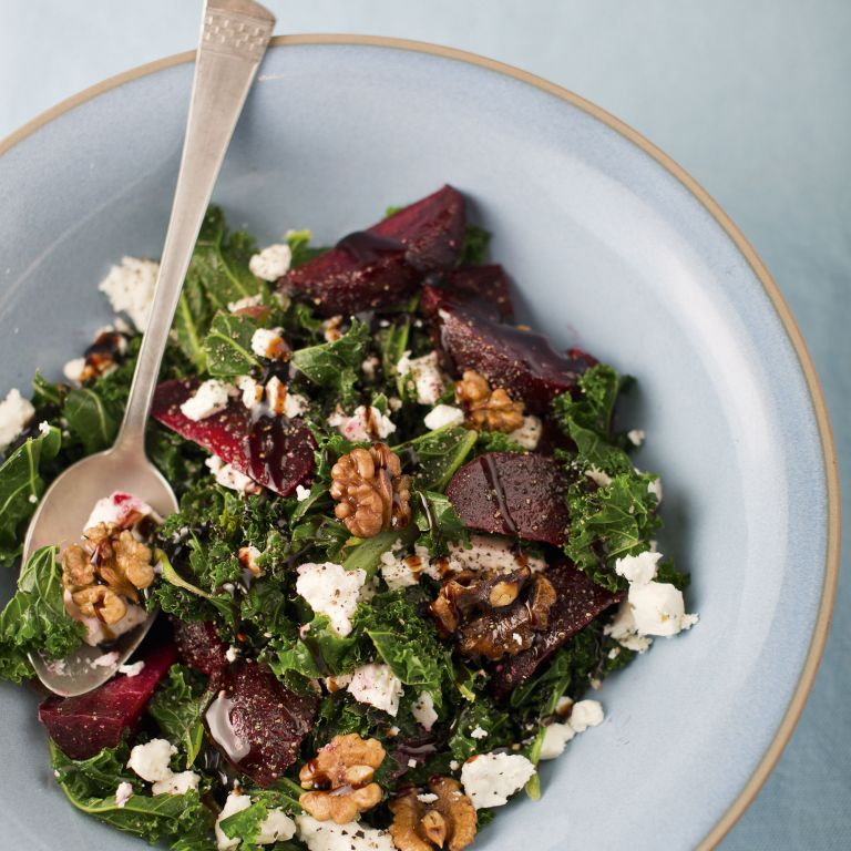 Photo of Beetrot, kale and feta salad