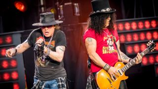 [L-R] Axl Rose and Slash of Guns N' Roses