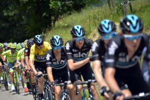 Team Sky in action during Stage 6 of the 2016 Dauphine Libere