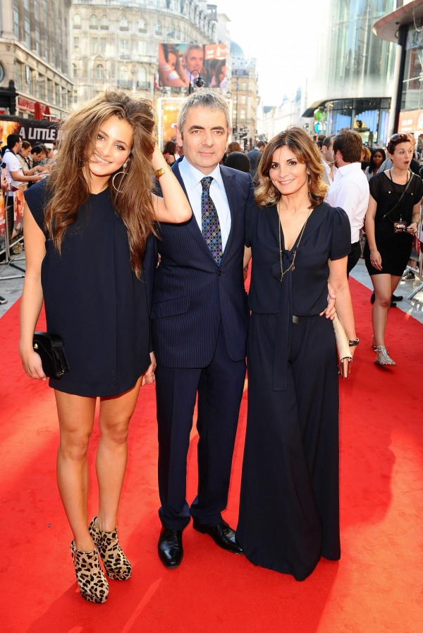Rowan Atkinson with his ex-wife and daughter Lily in 2011