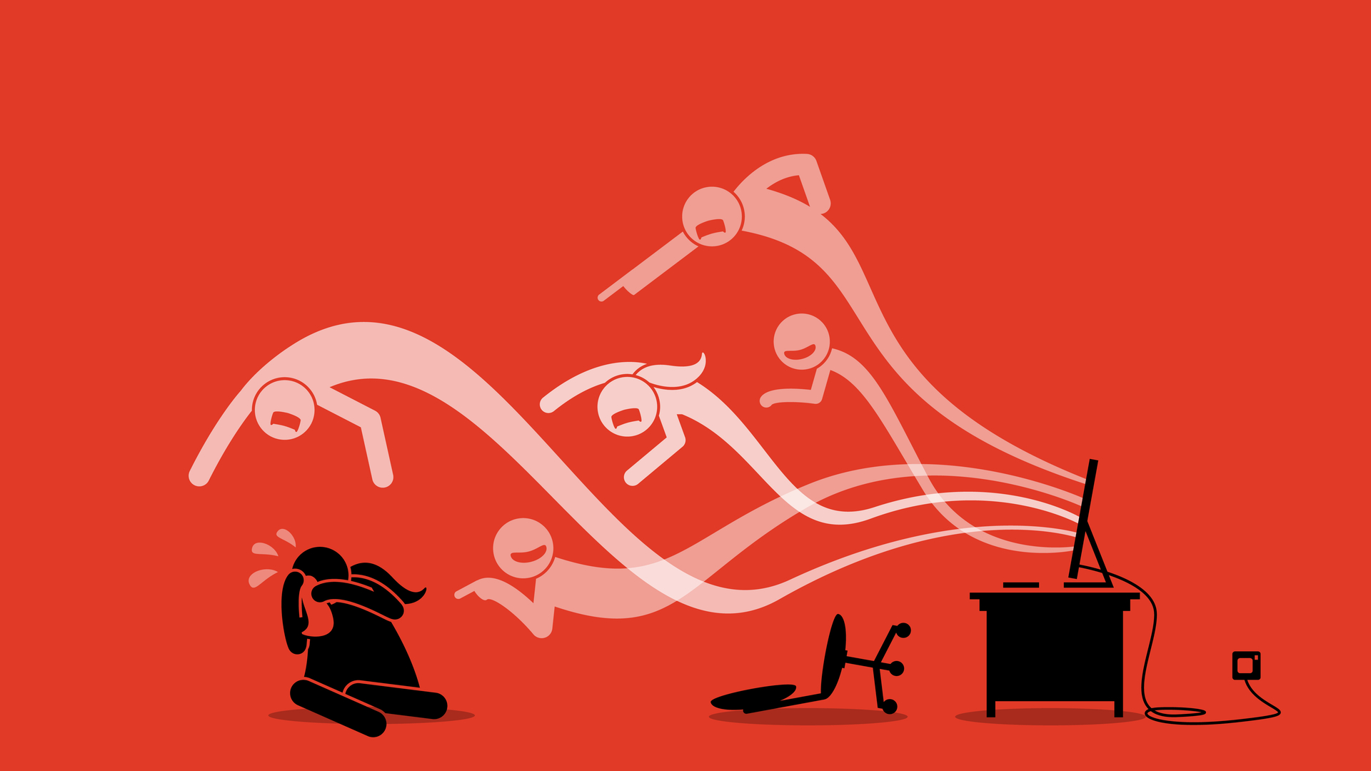 illustration of cyber bullying