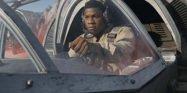 Star Wars: The Last Jedi Finn pilots a speeder on Crait