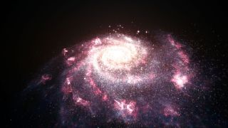 This illustration shows a messy, chaotic galaxy undergoing bursts of star formation. April 25, 2013
