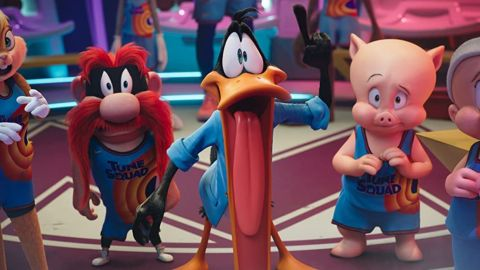 Yosemite Sam, Daffy Duck, and Porky Pig in 'Space Jam: A New Legacy'.