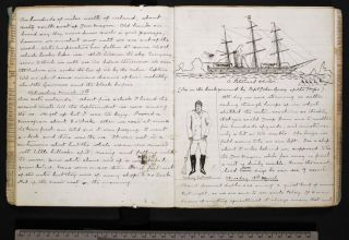 Prose and drawings from the journal of Sir Arthur Conan Doyle, jotted down during his time as a surgeon aboard the whaling vessel Hope in 1880. His journal was published Sept. 26, 2012.