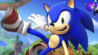 Sonic the Hedgehog being cool.