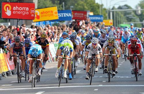 Gerald Ciolek, Fabio Sabatini, Roger Hammond, Vuelta a Espana 2009 stage 2