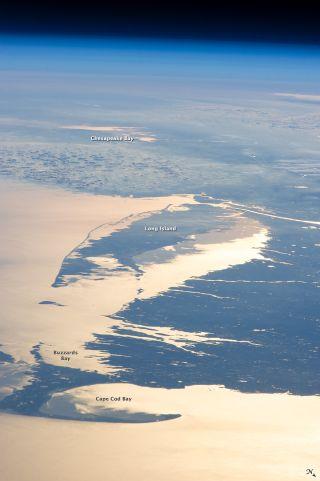 sunglint, astronaut photo, sunglint water
