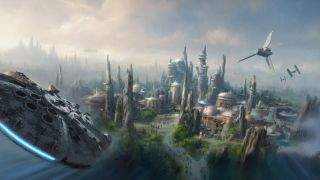 Star Wars Land Illustration