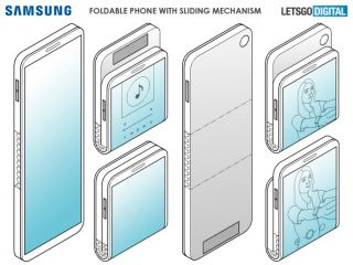 Samsung foldable phone patent vertical