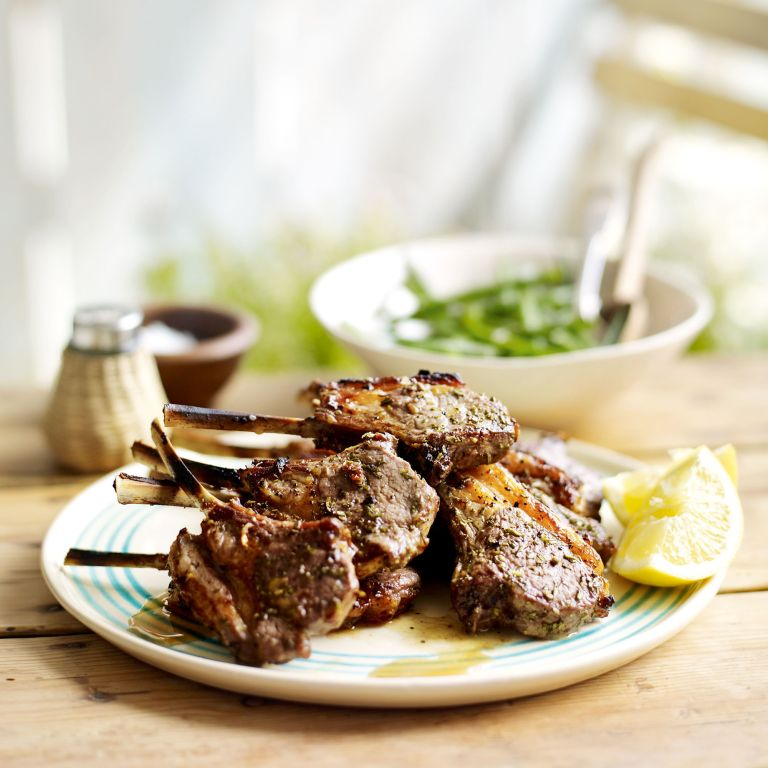 Rosemary and Garlic Lamb Cutlets with Lemony Green Beans Recipe-new recipes-woman and home