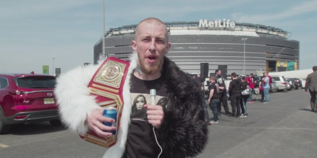 A fan at wrestlemania talking about his hobbies in How To with John Wilson