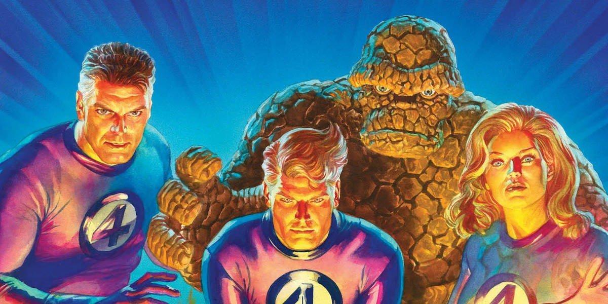 Fantastic Four posing in Marvel Comics art