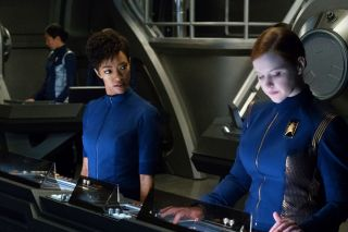 Sylvia Tilly and Michael Burnham on Star Trek: Discovery