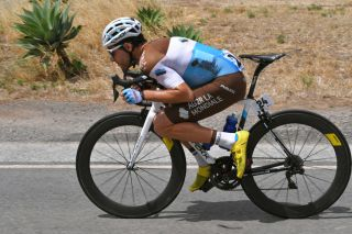 AG2R La Mondiale's Axel Domont on the attack during stage 5 of the 2020 Tour Down Under