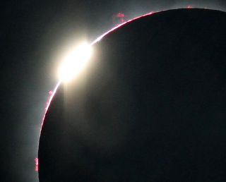 Close-up of the second diamond ring from total solar eclipse of July 11, 2010.