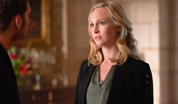 Candice King as Caroline Forbes talks to Klaus on The Originals The CW