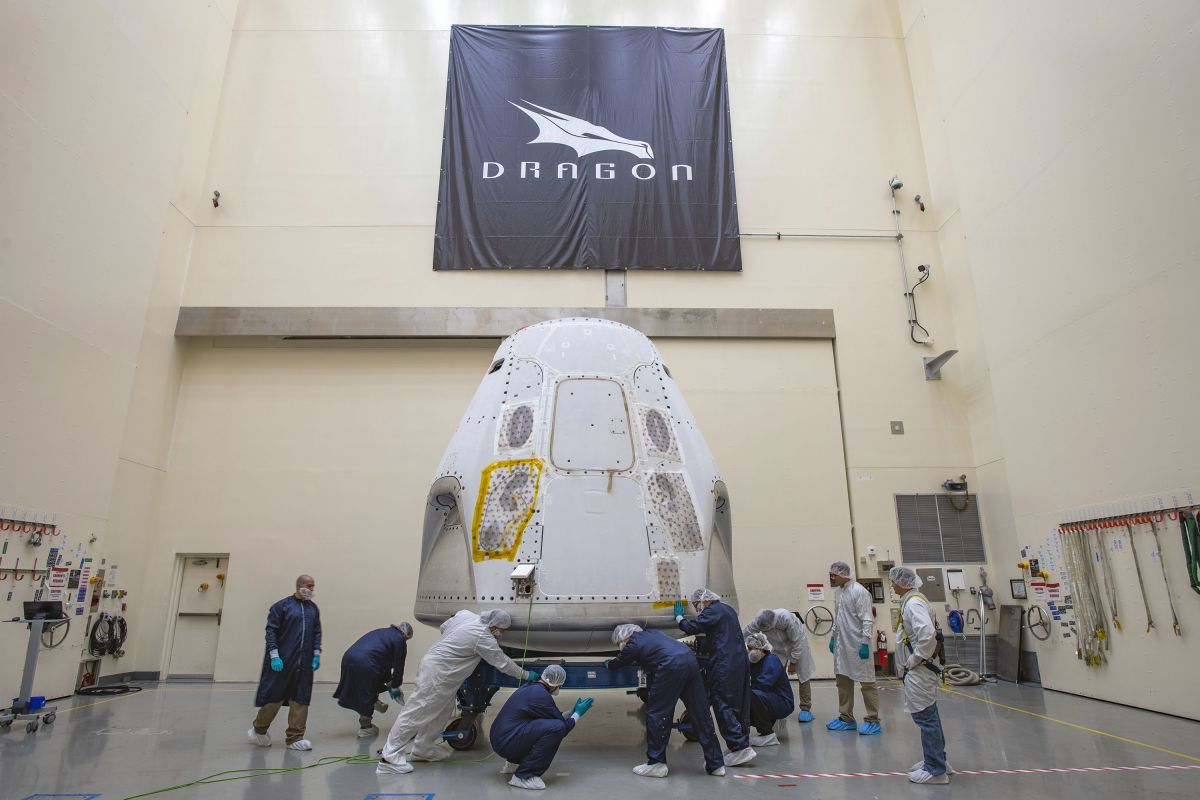 SpaceX Crew Dragon arrives at launch site for the 1st orbital crew flight from US soil since 2011