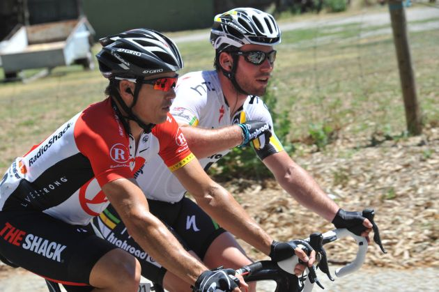 Mark Cavendish and Robbie McEwen, Tour Down Under 2011, stage one