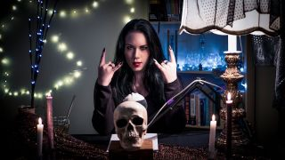 A still from a metal ASMR video