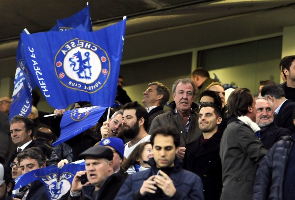 Jeremy Clarkson at a Chelsea game on Wednesday night