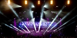 Clay Paky Sharpys on Evanescence Tour
