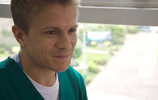 Holby crossover Ethan, played by George Rainsford