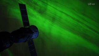 nasa uhd video still of aurora from ISS
