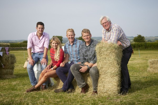 Ellie Harrison with her Countryfile co-presenters