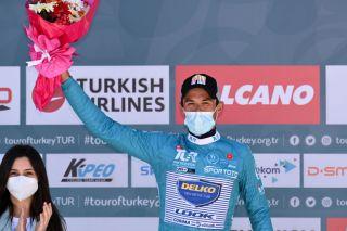 Jose Manuel Diaz (Delko) is the new race leader