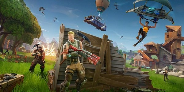 Players gather for battle in Fortnite: Battle Royale.