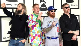 A photograph of Mastodon taken at the 2015 Grammy Awards