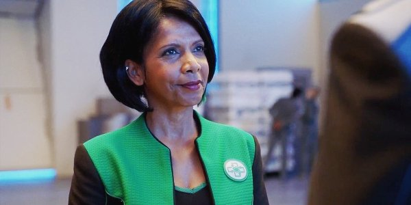 The Orville Penny Johnson Jerald Dr. Claire Finn smiles at the Captain