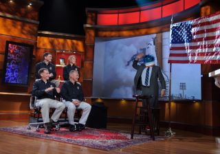 "STS-135 Astronauts on ""The Colbert Report"""