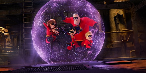 Incredibles 2 The Parr family protected in Violet's force field