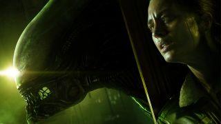 Amanda Ripley hides from an alien