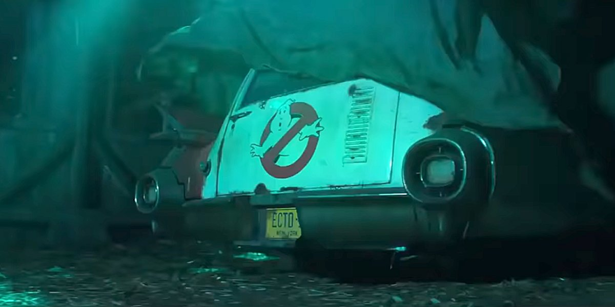 The Ghostbusters Van in the tease for Afterlife