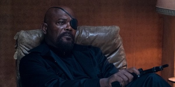 Samuel L. Jackson as Nick Fury in Spider-Man: Far From Home