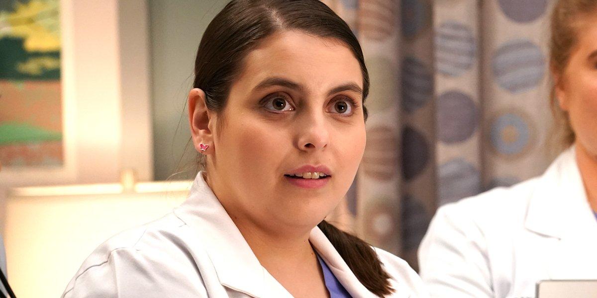 Grey's Anatomy Season 16 Beanie Feldstein as Tess the fake resident doctor ABC