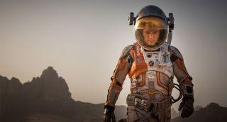 Matt Damon is stranded on Mars in The Martian (Image credit: Fox Movies)