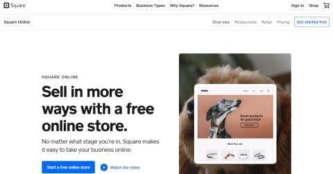 Square Online review - Square's homepage