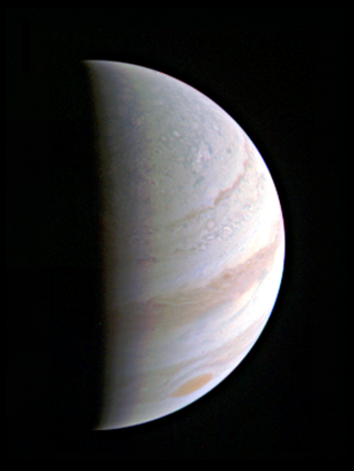 Jupiter as seen from Juno spacecraft