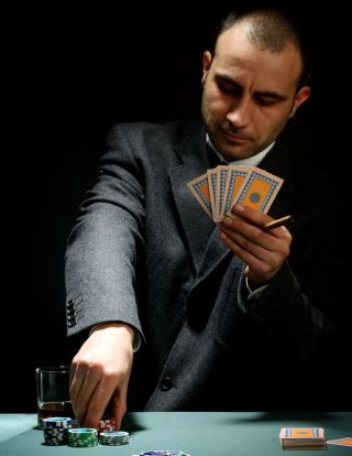 guy playing poker.