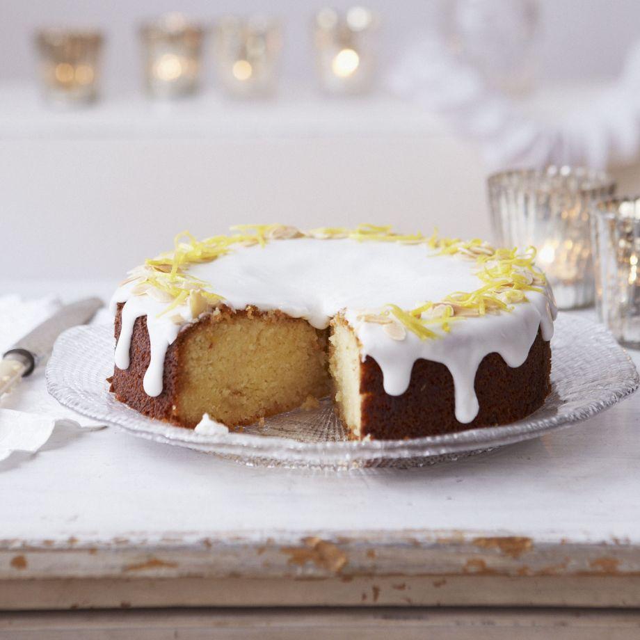 Lemon and Marzipan Drizzle Cake